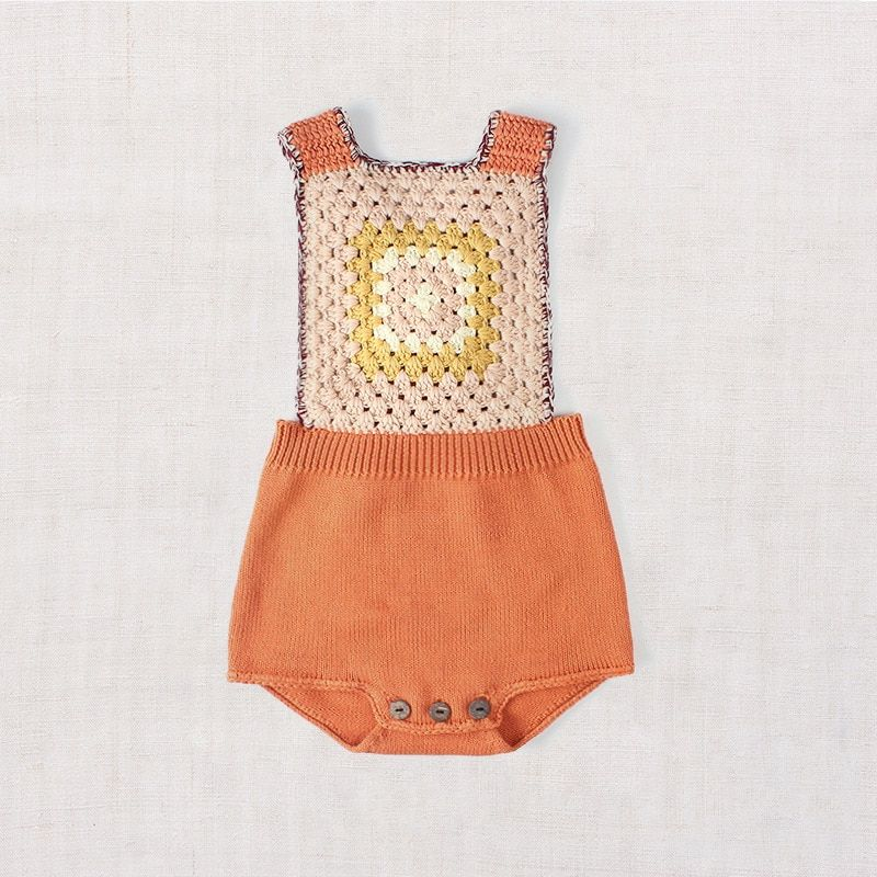 Photo of Newborn Baby Boy Or Girl Knitted Romper Overall Vintage Style | This Little Nest