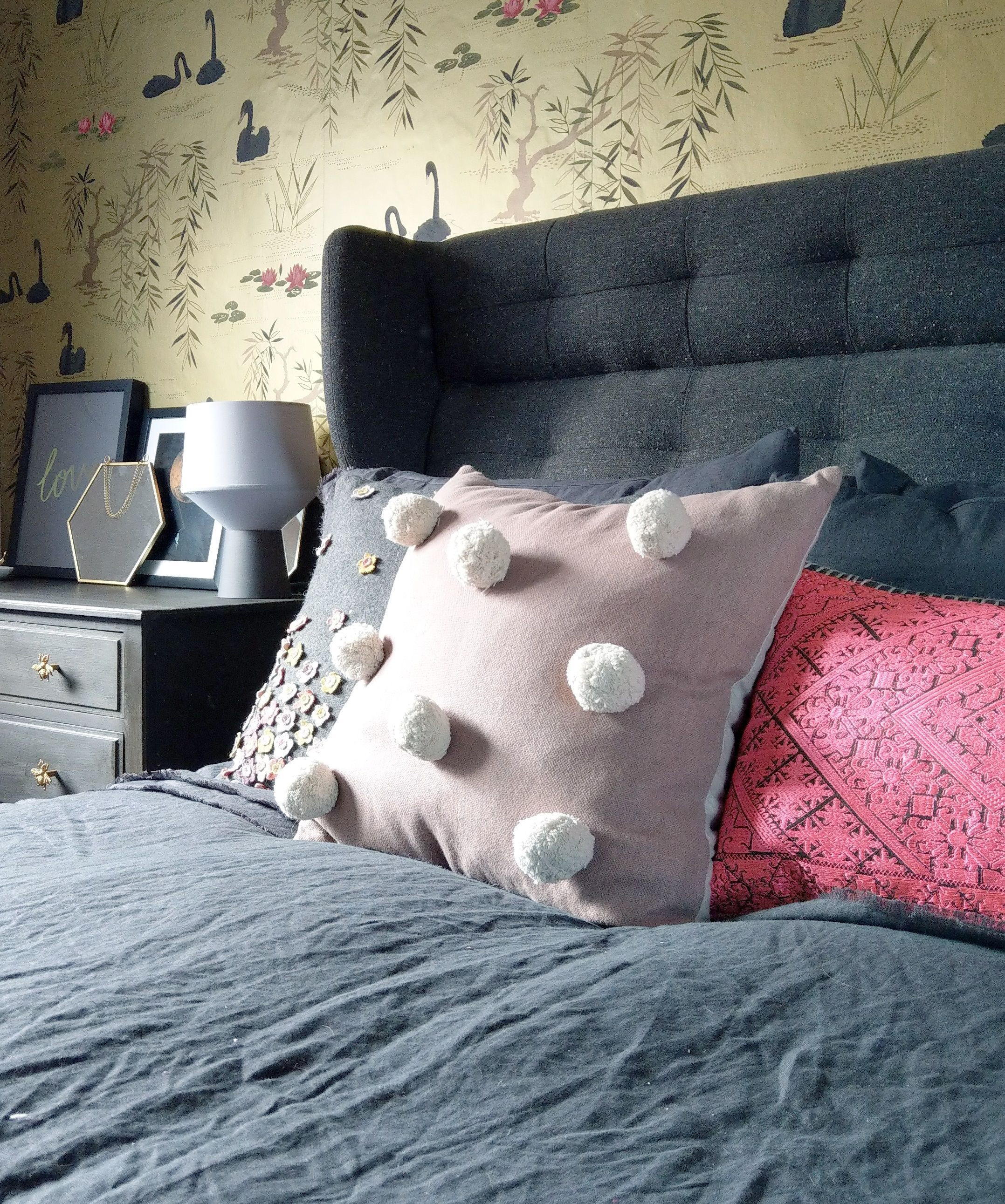 Pink Giant Pom Pom Cushion | Home Decor: Tactile Textiles | Cushions ...