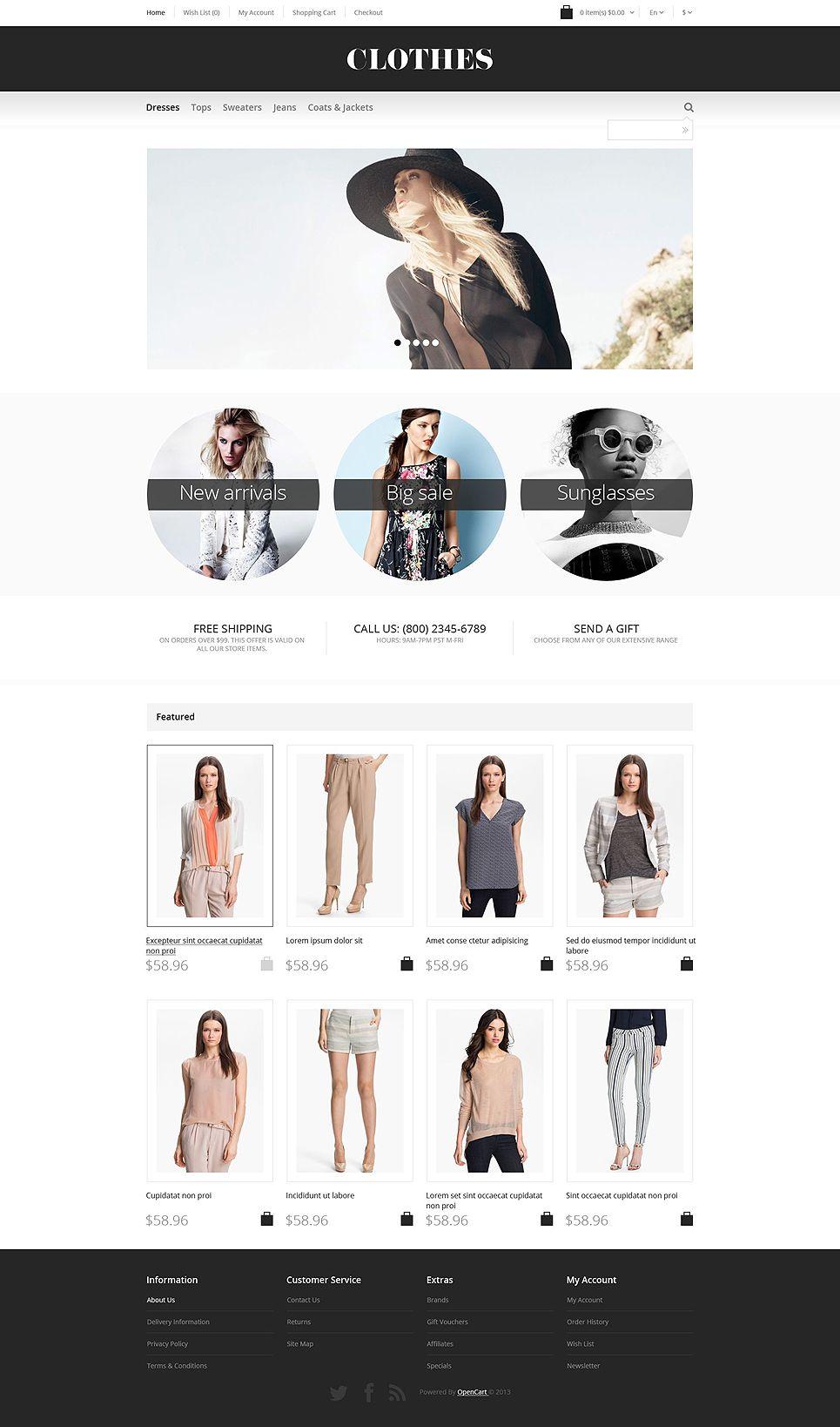 Apparel Responsive Opencart Template 55014 Fashion Design Portfolio Portfolio Website Design Ecommerce Web Design