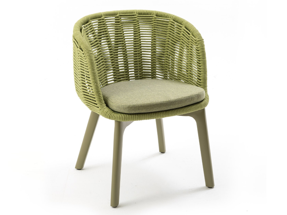 Rope Garden Chair Bagel By Kun Design Design Kun Qi In 2020 Chair Garden Chairs Outdoor Dining Chairs