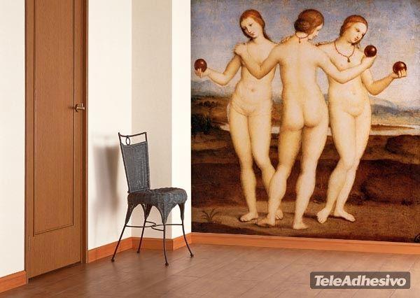 Fototapeten Drei nudes_Raphael