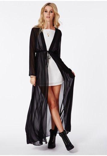 ed9dbc0bdb8b Periana Long Sleeve Maxi Kimono - Kimonos - Missguided | Style ...