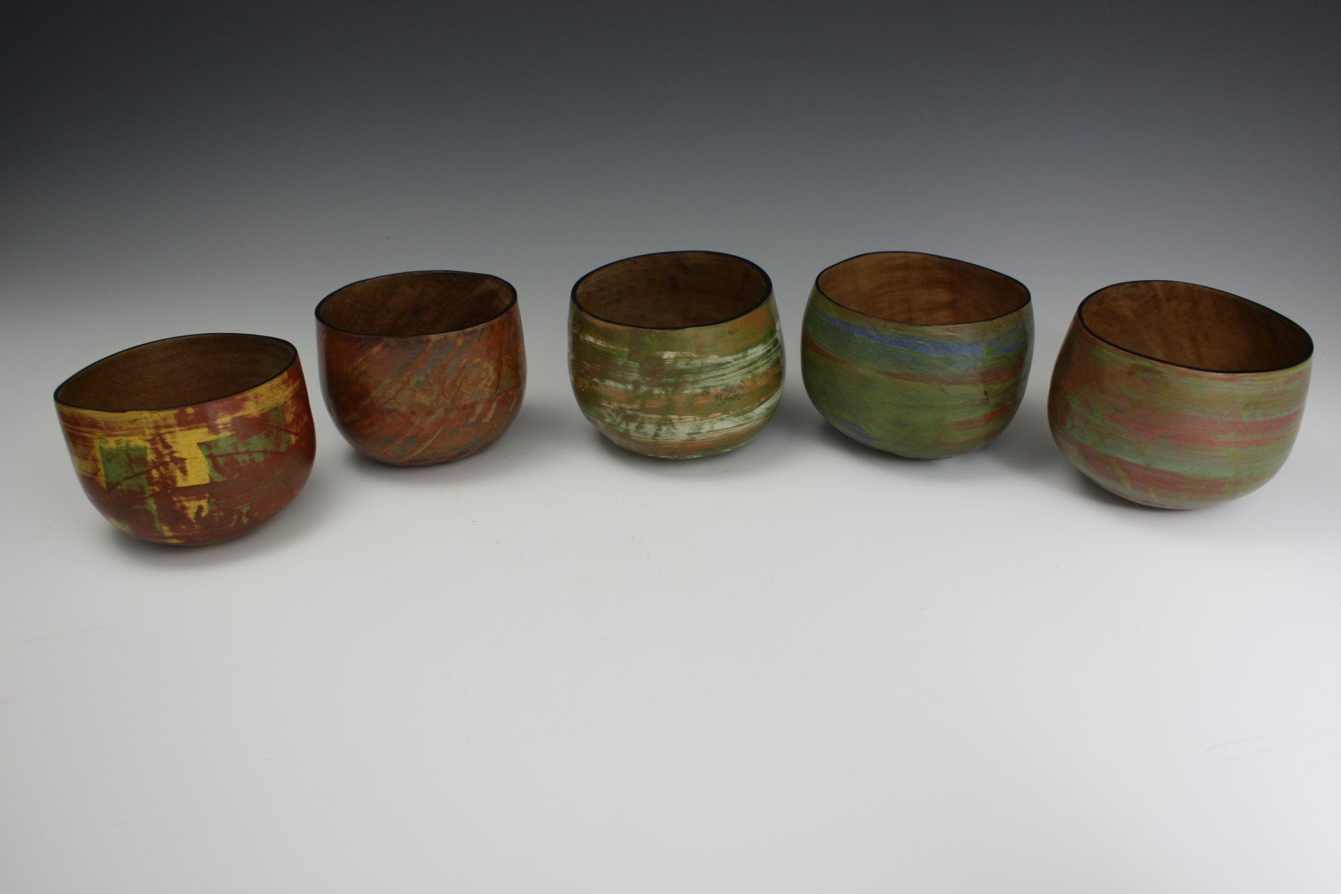 Turning Of The Week 5 Little Madrone Bowls By Brad Stave
