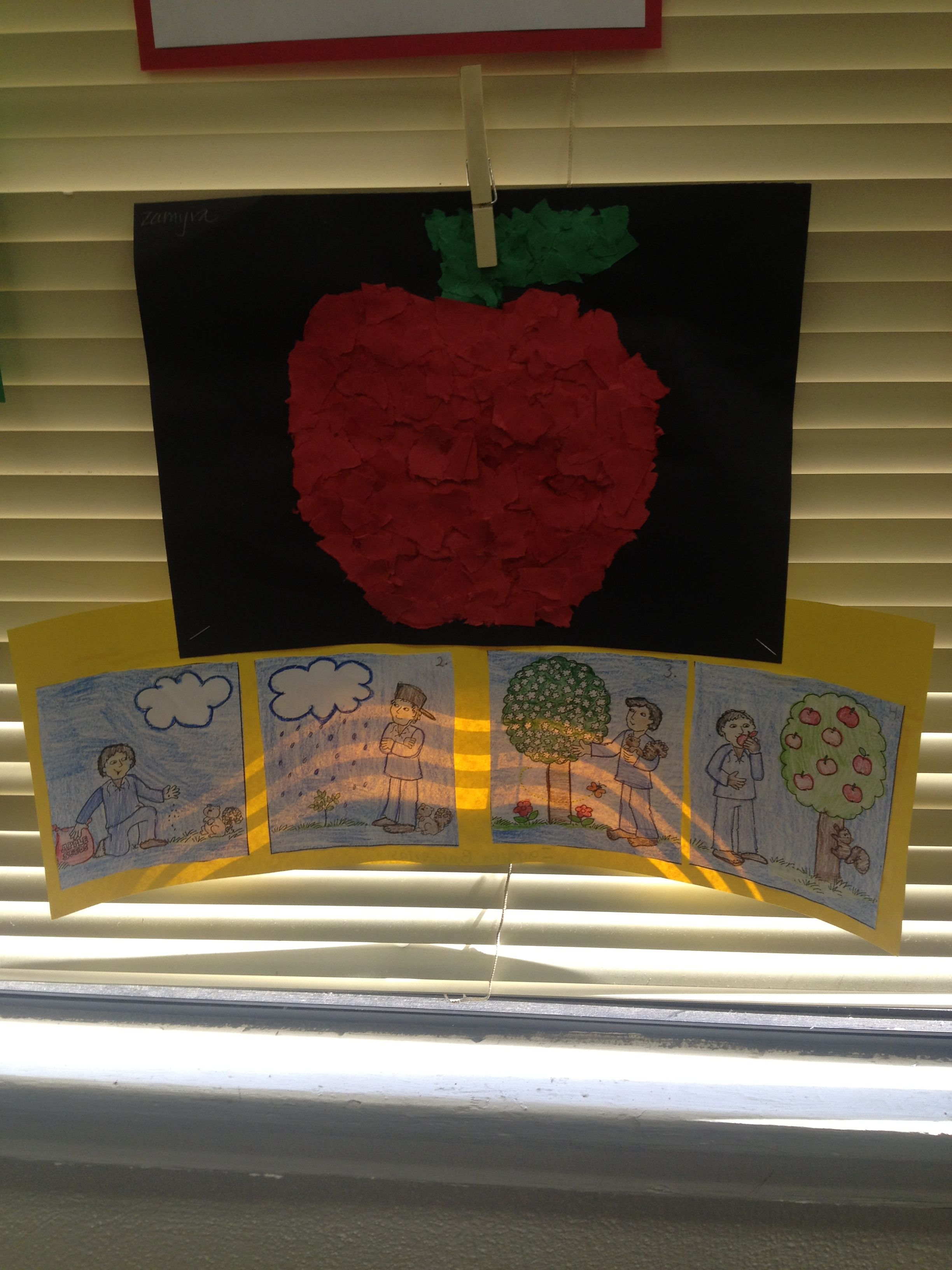 Johnny Appleseed Tear Art Amp Sequencing