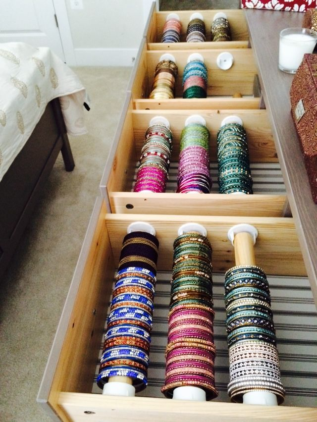 Indian Bangle Organization For The Home Bedroom