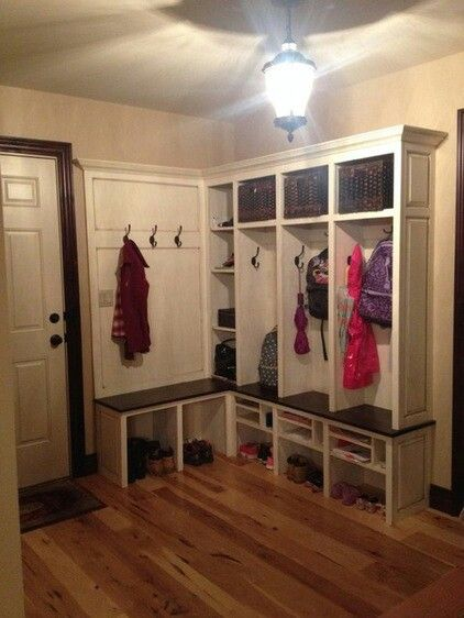 L Shaped Cubbies For The Mud Room Mud Room Storage
