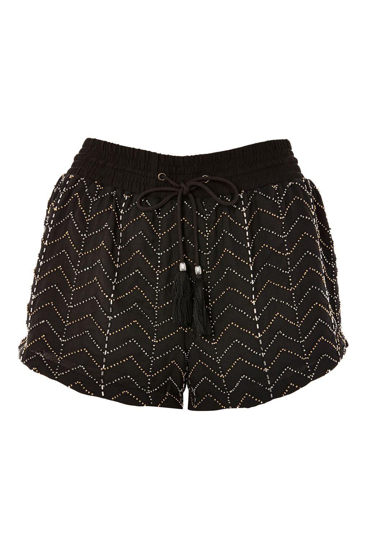Beaded Flippy Shorts - Clothing- Topshop Europe
