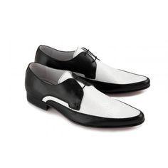 Black And White Dress Shoes | Ikon Mens Black & White JAM Shoe ...