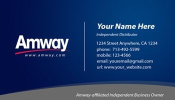 Amway Business Card Design 1 Amway Business Amway Business Card Design