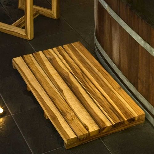 Teak Spa Mat With Natural Teak Oil Finish By Verde