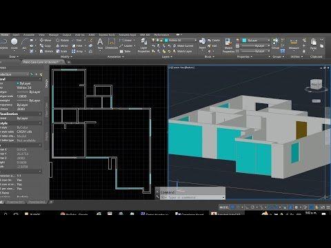Curso Autocad 3d Dibujar Plano De Casa En 3d Parte 1 Entorno 3d Dibujo De Muros Solidos Youtube Dibujos De Planos Dibujos En Autocad Planos De Casas