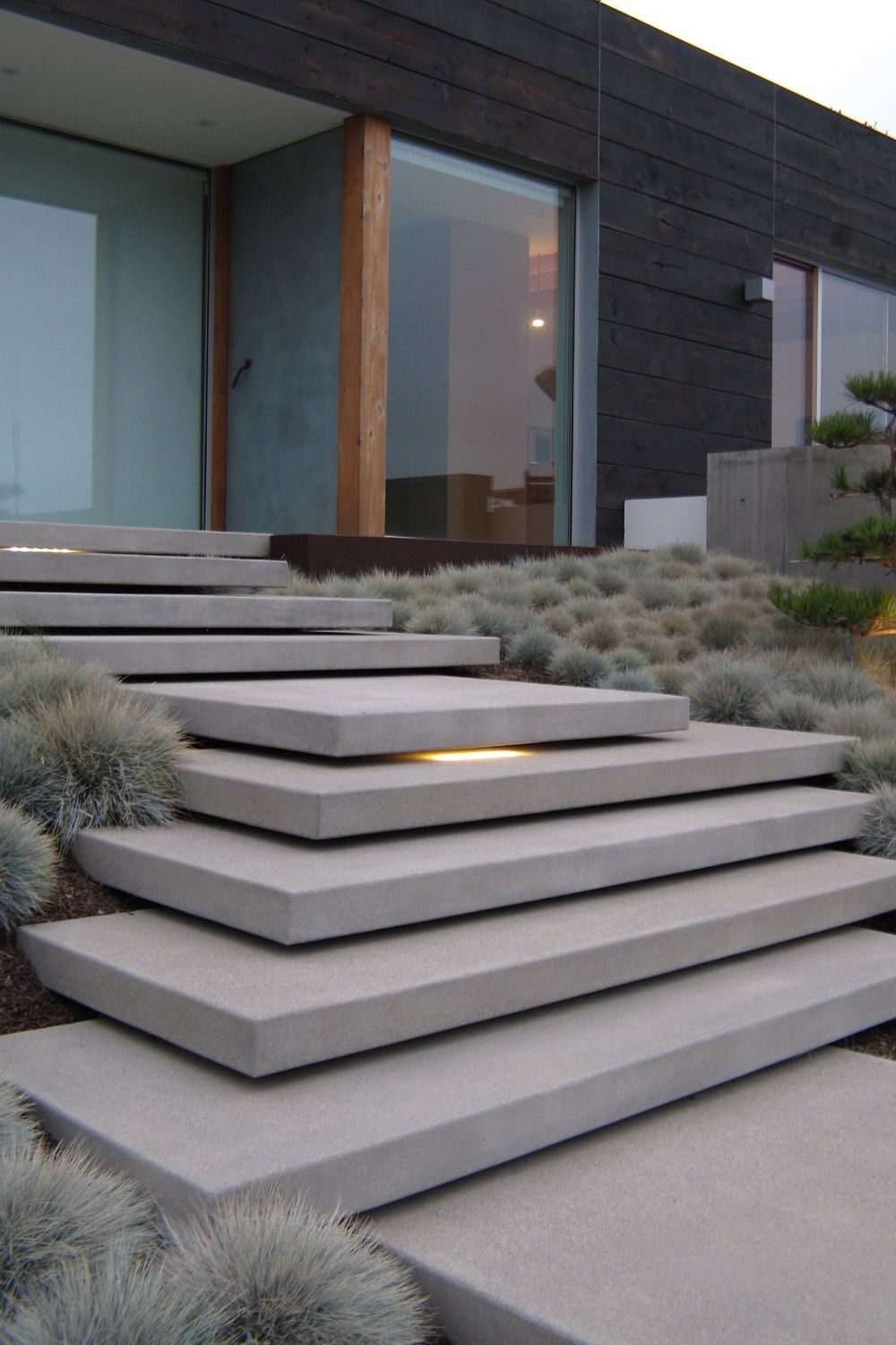 Home Entrance Stairs Design Landscape Design Stoop Property Architecture Landscape Line In 2020 Exterior Stairs Modern Exterior Doors Contemporary Exterior Doors