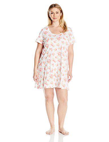 carole hochman womens plus size cotton short sleeve sleepshirt