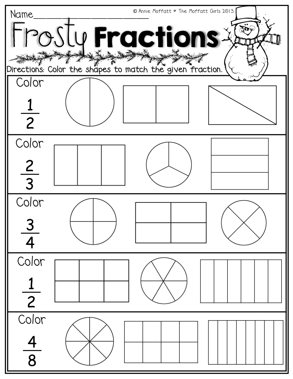 Fraction Worksheets For Grade 3 Site Pinterest To