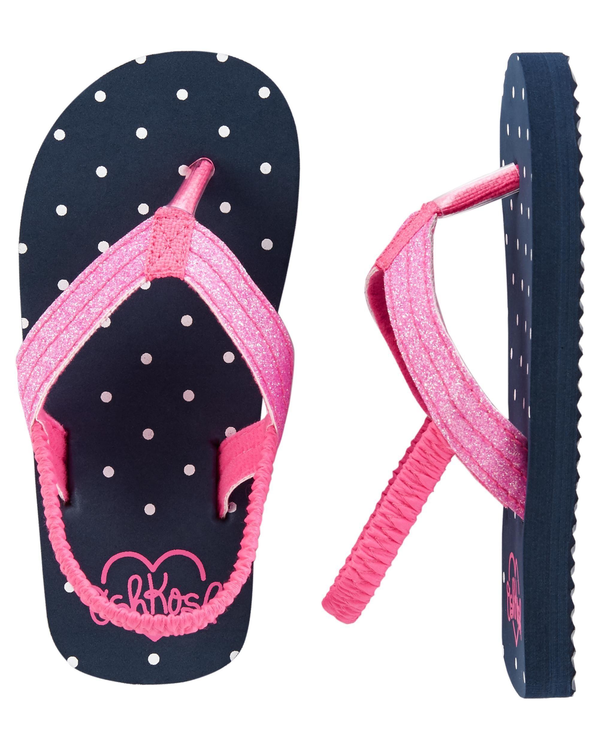 4a9d6856d OshKosh Polka Dot Flip Flops
