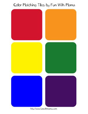 Color Matching Tiles Printable Color Matching Tiles Color