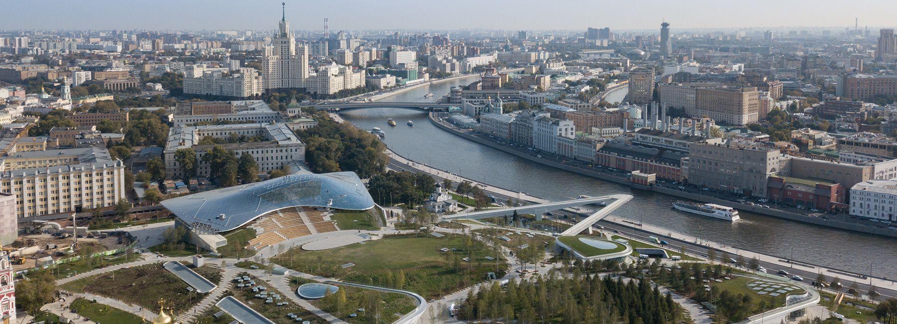 Diller Scofidio Renfro Designed Zaryadye Park Opens In Moscow Park Parking Design Outdoor