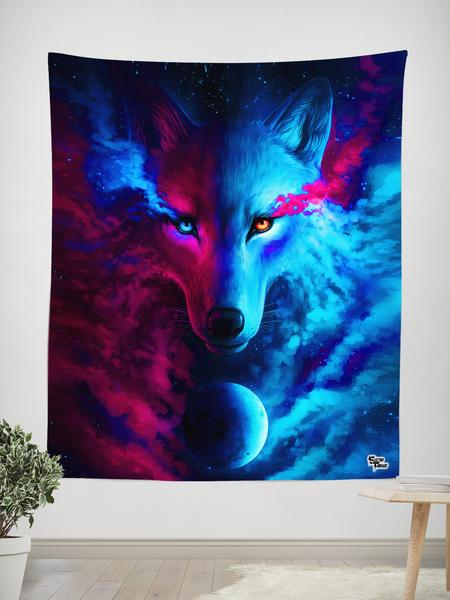 Galaxy Wolf Tapestry