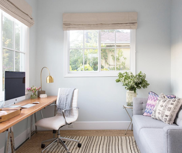 Best Home Office Decorating Ideas On Instagram Domino Small Guest Rooms Guest Bedroom Office Small Guest Bedroom