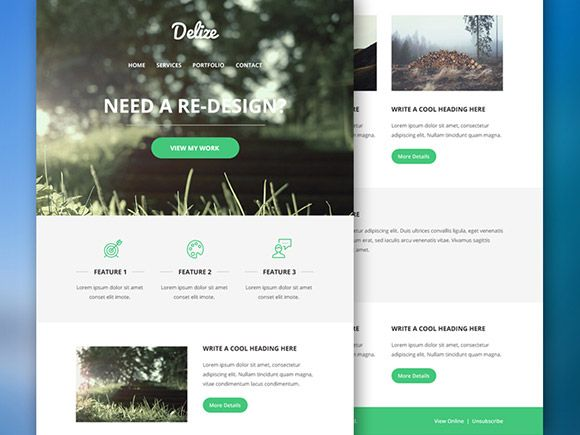 Delize - Email PSD template | Pinterest | Newsletter templates ...