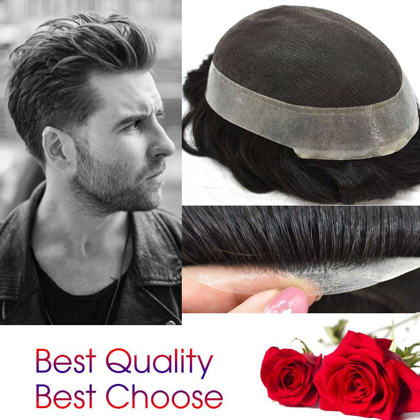 Undetectable French Lace Mens Toupee Hair