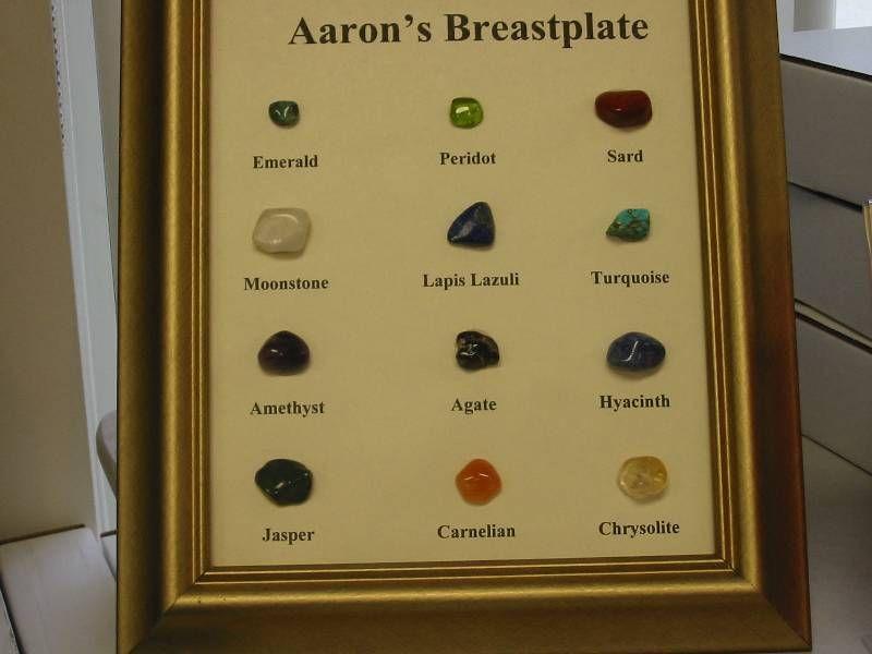 Aaron S Breastplate Gem Stones Chrysolite Gemstones Amethyst