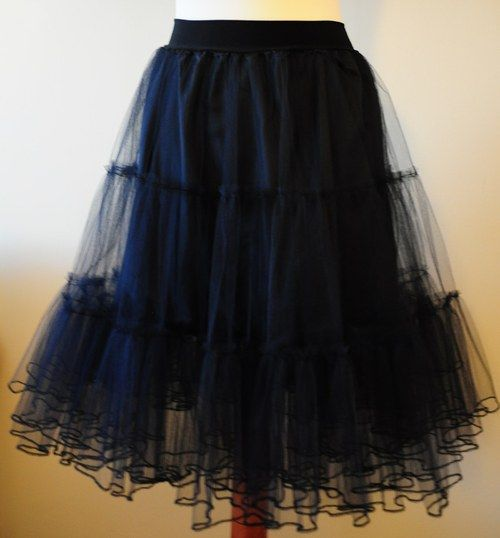 tylová spodnička černá  70f28e6a0c