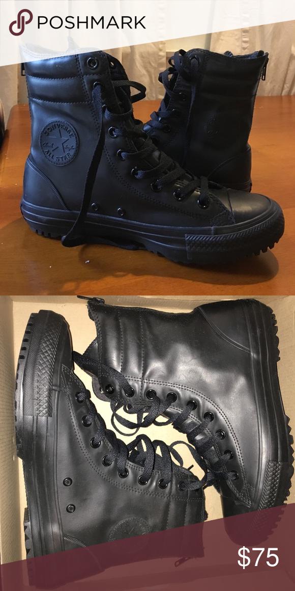 6008c0e0dd Converse Black Hi-Rise Rubber Boot Women s 9 Brand new