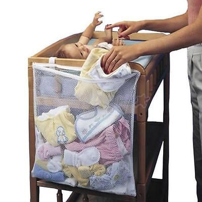 8e873508eb6e Baby Crib Clothes Diaper Organizer Mesh Bag Nursery Bedside Hanging ...