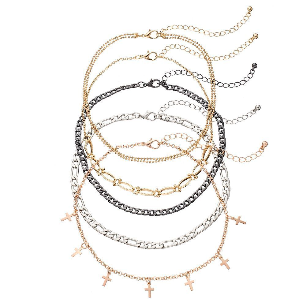 Muddcross station u chain choker necklace set womenus