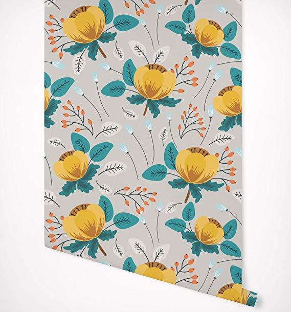 Amazon.com: Kraska Peel and Stick Wallpaper Watercolor ...
