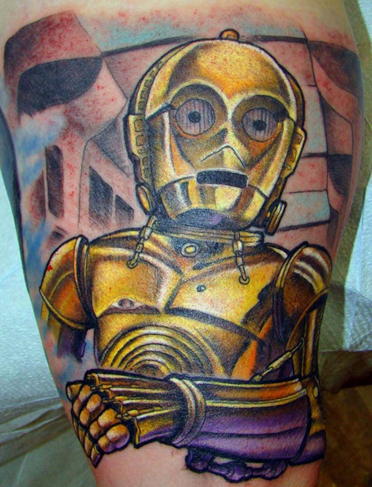 C3-PO Tattoo by Chris Iwaniuk - Faceless Tattoo Artist - Edmonton, AB