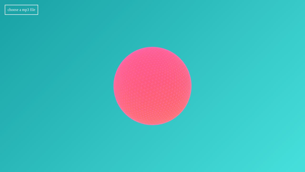 WebGL based audio visualizer | Demos | WebGL | Audio, Chart