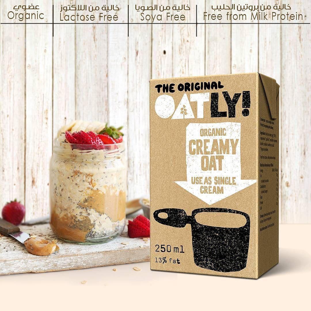 أوتلي كريمة شوفان عضوي خالية من اللاكتوز و بروتين الحليب و الصويا متوفرة في سيفكو منتجاتا سيفكو العضوية Oatly Organic Creamy Oa Oatly Milk Protein Soya Free