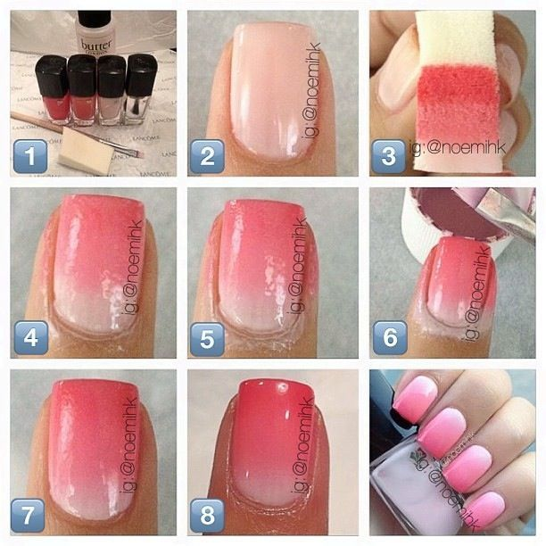 How To Do Ombre Nail Polish: Beautiful Photo Nail Art: How To Do Ombre Nails