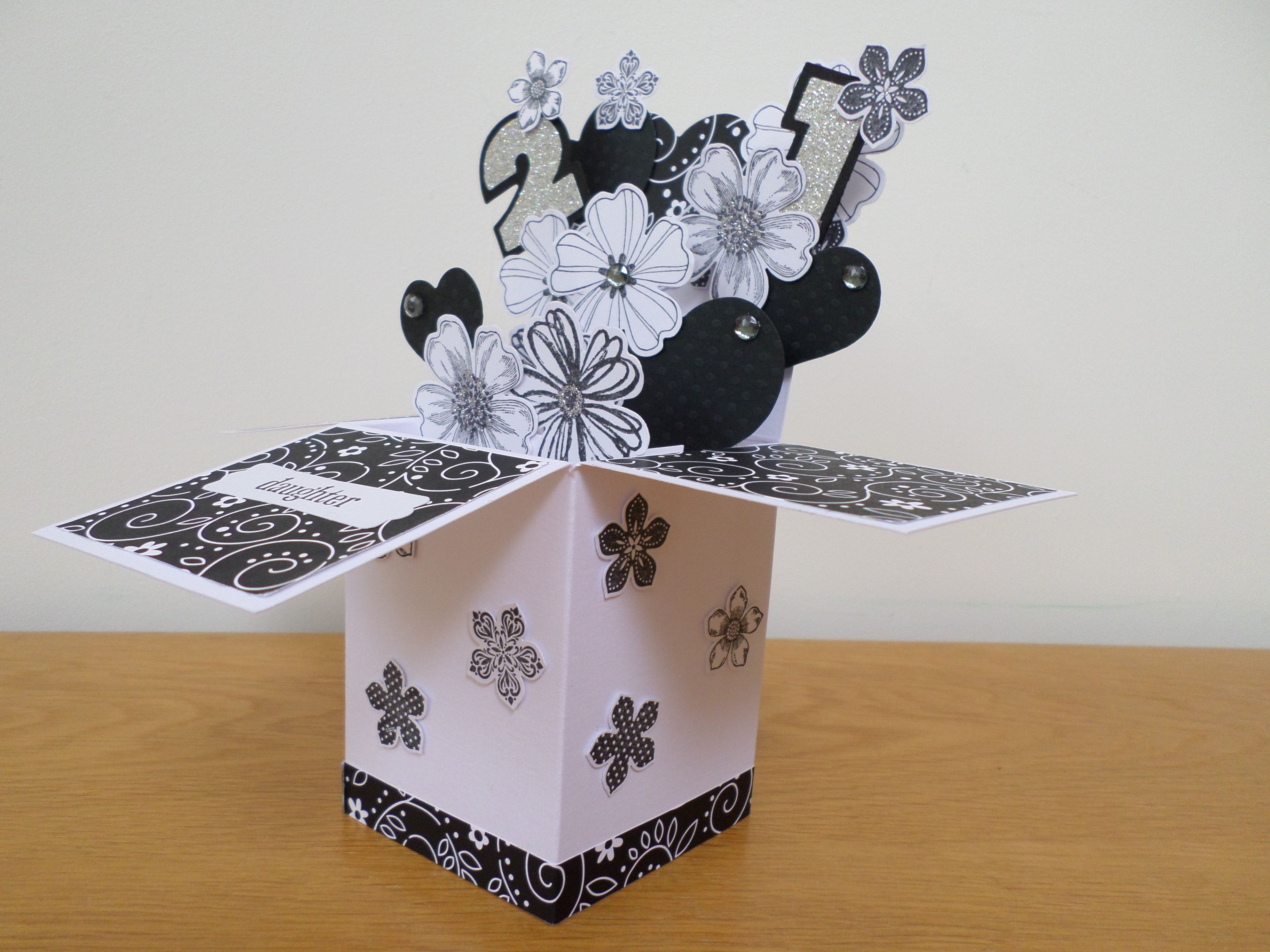 I made this for my daughters 21st birthday using stampin up stamps girl birthday cards bookmarktalkfo Gallery