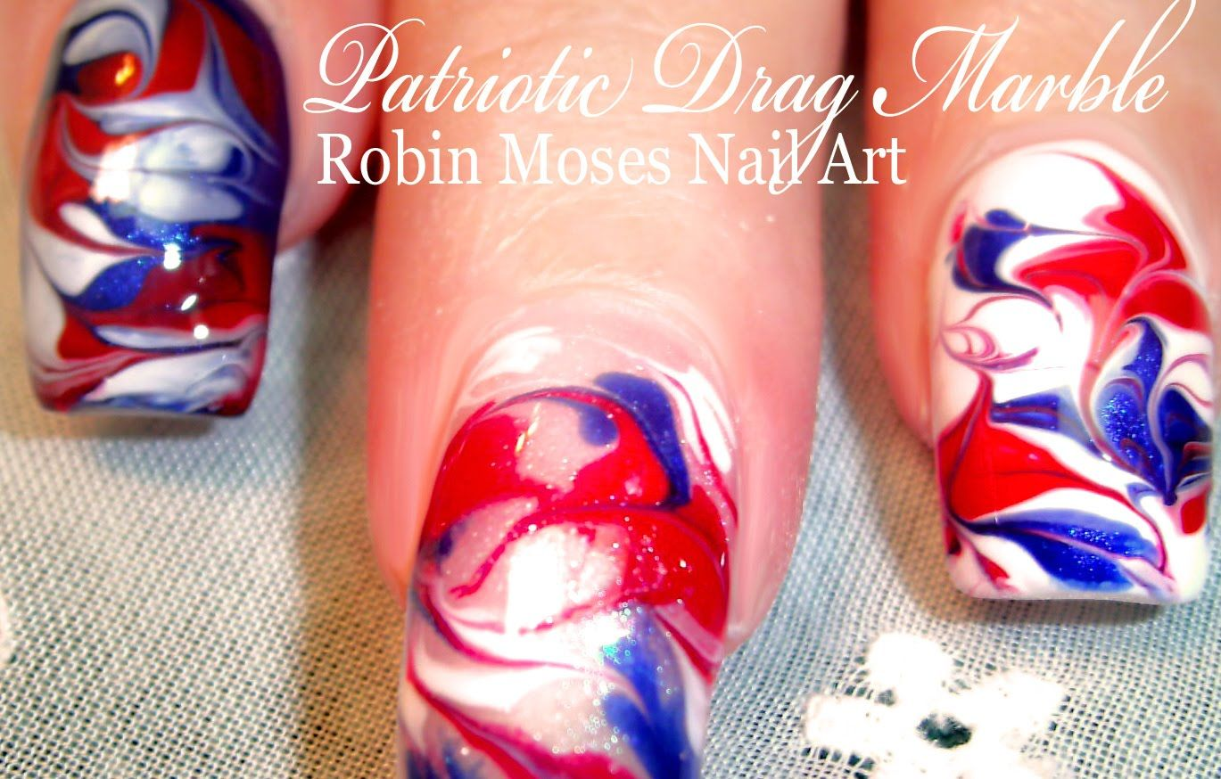 fourthofjuly #nails #nowatermarble #watermarble design up today in ...