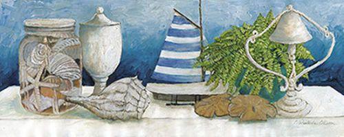 Charlene-Olson-Beach-Memories-II-Keilrahmen-Bild-Leinwand-Strand-maritim-Deko