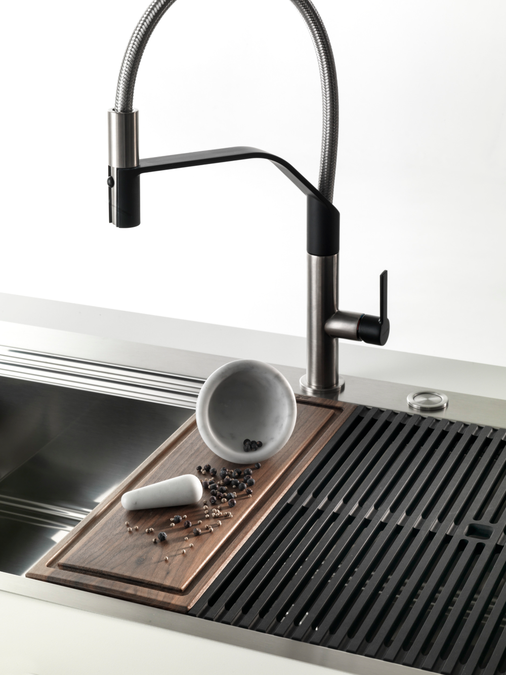 Single Flush Mounted Stainless Steel Sink With Drainer Milanello 1vdx85 1vsx85 G Ft C Br By Foster Stainless Steel Sinks Sink Stainless Steel Cabinets