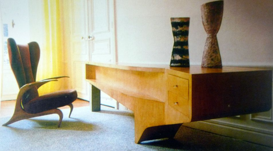 Carlo Mollino Desk1 Design HistoryFurniture DesignThu BridgesModern ArchitectureConsolesLiving SpacesItalyMid CenturyDesk
