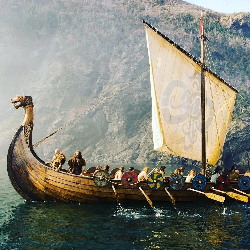 Image of Viking setting sail
