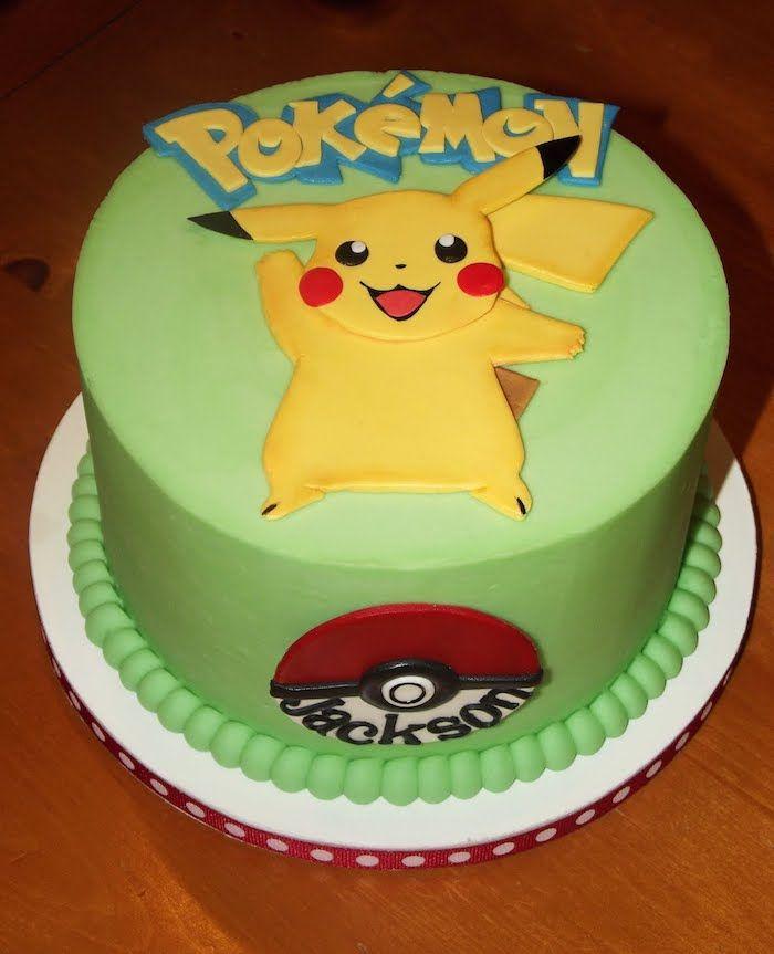 1001 id es pour une d coration superbe du g teau pok mon pikachu mignon gateau pokemon et - Decoration gateau pokemon ...