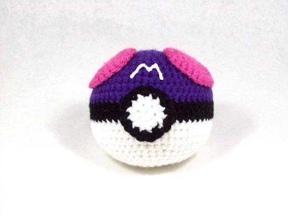 Amigurumi Tutorial Ball : Amigurumi Pattern Pokemon Inspired Master Ball Pokemon ...