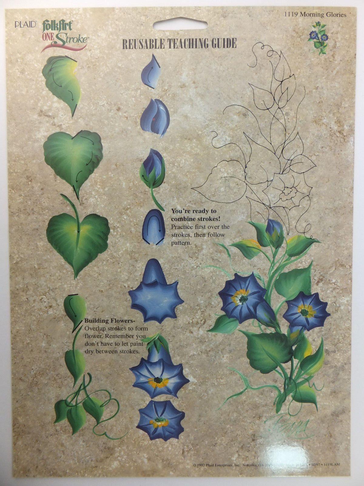 Donna Dewberry One Stroke Painting Rtg Worksheet Flowers