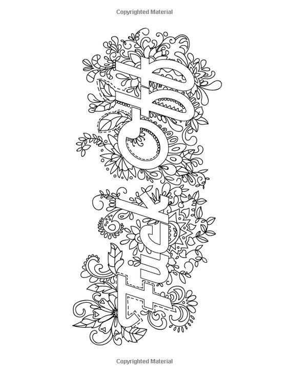 Amazon.fr - Swear Word Adult Coloring Book: Stress Relief ...