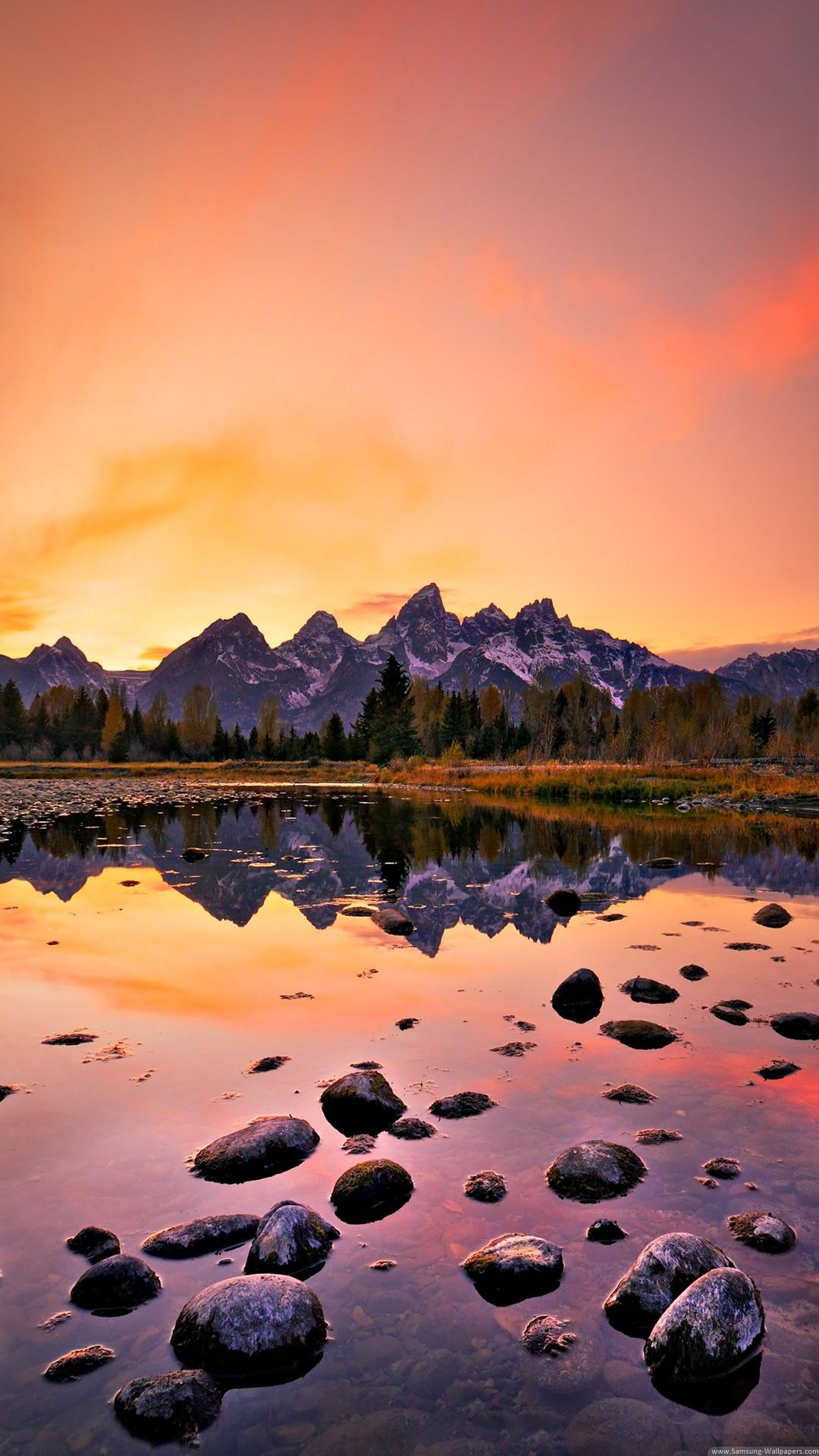 Mountain Lake Sunset Android Wallpaper Hd Iphone Wallpaper