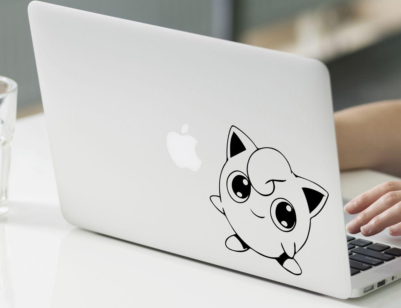 "Jigglypuff Pokemon Decal Sticker Vinyl For Macbook Pro Air 13"" Inch 15"" Inch #cute #jigglypuff #macuser #cuteanime"