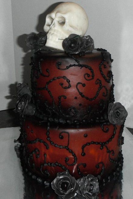 Superb Red Skull Cake By Munkey With Images Skull Cake Skull Wedding Funny Birthday Cards Online Inifofree Goldxyz