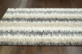 $5 Off when you share! Radiante Ombre Stripes BC63 Grey Rug | Contemporary Rugs #RugsUSA