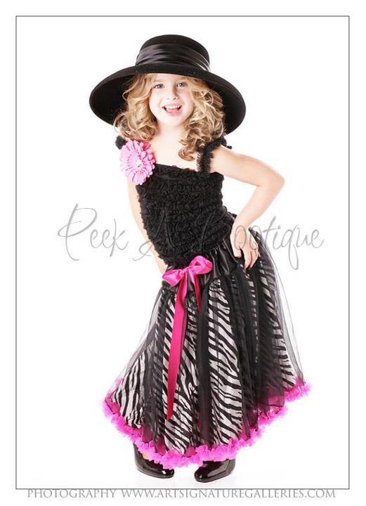 Zebra Petti Dress (shown wearing as a skirt) by www.thepeekabootique.com